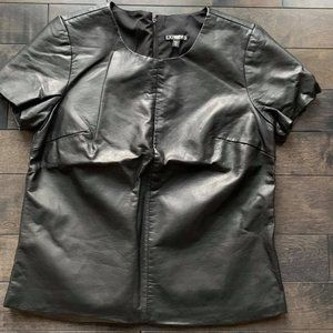 Express Faux Leather Tee